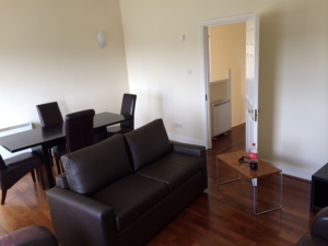 Living room – apartments in Ireland come furnished with basic couches, tables, etc. Makes it much easier moving in from across the world.