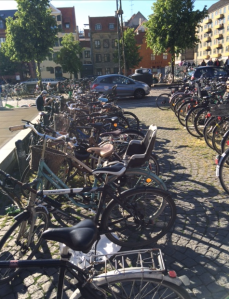 So many bikes in Copenhagen. It's truly amazing.