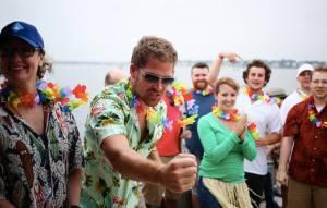 Intense limbo contest on the SmartBear boat cruise, summer 2013.