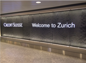 The wealth and affluent culture of Switzerland is palpable upon arriving at the airport in Zurich.