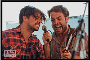 Matt Vasquez and Taylor Goldsmith from Middle Brother, 2011.
