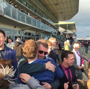 A gentleman's embrace after another winning Gaughan pic